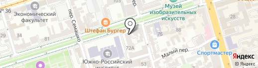 Тетра-Тур на карте Ростова-на-Дону