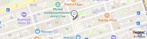 Самая на карте Ростова-на-Дону