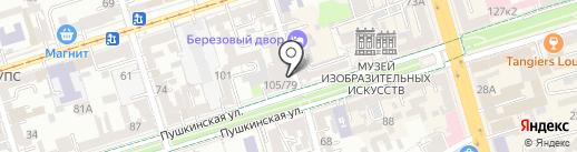 Центр международных расчетов на карте Ростова-на-Дону