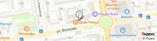 Коршуновская на карте Ростова-на-Дону