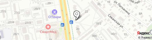 Велюр на карте Ростова-на-Дону