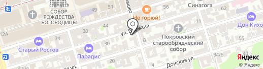 Территория Творчества на карте Ростова-на-Дону