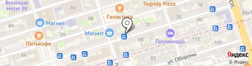 Модджи на карте Ростова-на-Дону