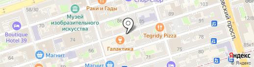 Упаковкино на карте Ростова-на-Дону