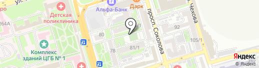 Белый медведь на карте Ростова-на-Дону