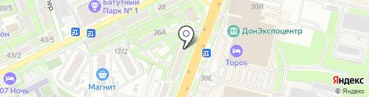 Рыбак на карте Ростова-на-Дону