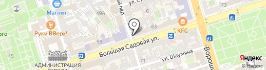 Тюльпан и Кот на карте Ростова-на-Дону