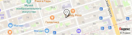 Салон-парикмахерская на карте Ростова-на-Дону