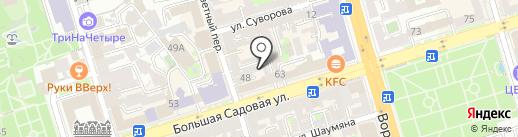 Фея на карте Ростова-на-Дону