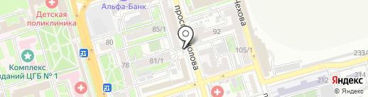 Киоск по продаже молочной продукции на карте Ростова-на-Дону