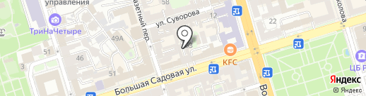 Математик-Плюс на карте Ростова-на-Дону