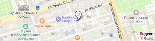 Жестянка на карте Ростова-на-Дону