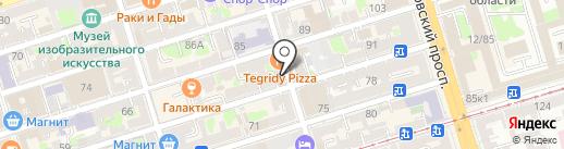 Гжель на карте Ростова-на-Дону