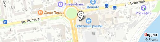 Атлантик на карте Ростова-на-Дону