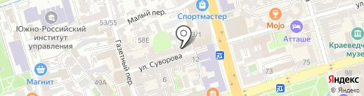 Пароход на карте Ростова-на-Дону