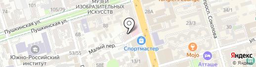 Юла на карте Ростова-на-Дону