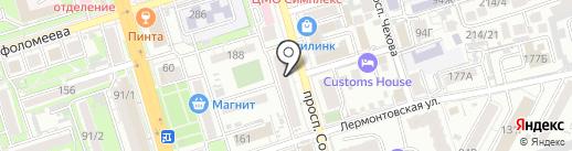 Аптека на Соколова на карте Ростова-на-Дону