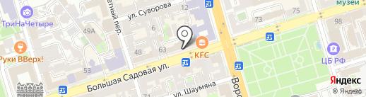 Bla Bla Hostel & Rooms на карте Ростова-на-Дону
