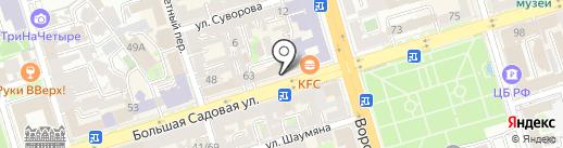 Переплёт61 на карте Ростова-на-Дону