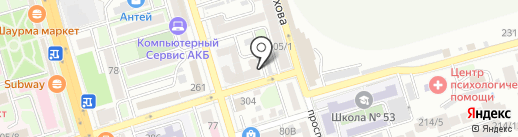 Кит на карте Ростова-на-Дону
