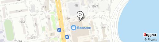 Батутный парк №1 на карте Ростова-на-Дону