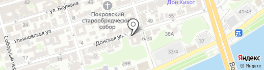 Ратник на карте Ростова-на-Дону