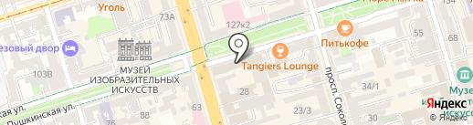 Стриж на карте Ростова-на-Дону