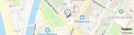 Банкомат, Банк Югра, ПАО на карте Сочи