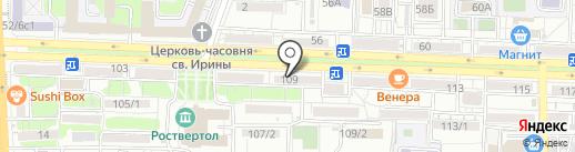 ТТК, ЗАО на карте Ростова-на-Дону