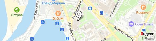 Квартирное бюро на карте Сочи