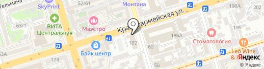 Мастер-знак на карте Ростова-на-Дону