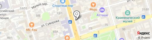 Зам-Зам на карте Ростова-на-Дону