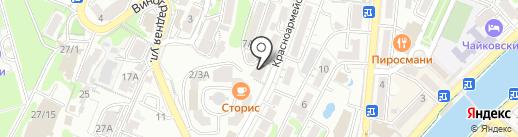 На Красноармейской на карте Сочи