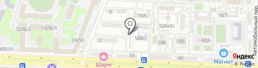 Первое Строительное Объединение на карте Ростова-на-Дону
