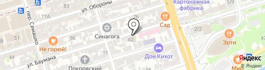 Перспектива на карте Ростова-на-Дону