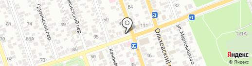 Гефест на карте Ростова-на-Дону
