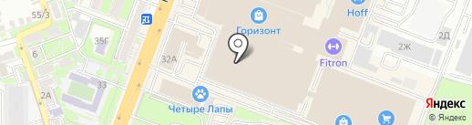 Иль Де Ботэ на карте Ростова-на-Дону