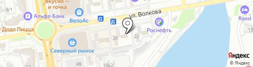 Кормилица на карте Ростова-на-Дону
