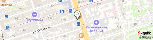 Хлебница на карте Ростова-на-Дону