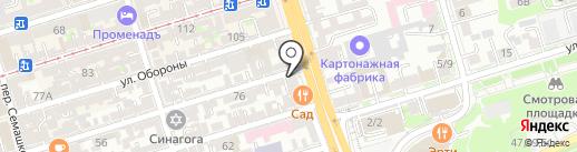 Якорь на карте Ростова-на-Дону