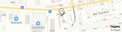Автомойка на ул. Максима Горького на карте Батайска