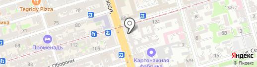 Паника на карте Ростова-на-Дону