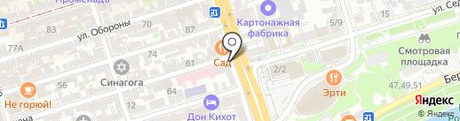 Чистый день на карте Ростова-на-Дону