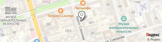 Серебряная линия на карте Ростова-на-Дону