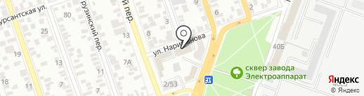 Карамель на карте Ростова-на-Дону