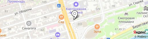 Сова на карте Ростова-на-Дону