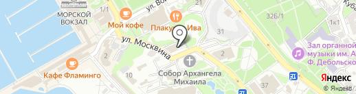 Форт на карте Сочи