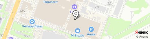 Серебренный стиль на карте Ростова-на-Дону