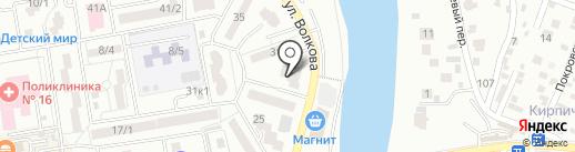 Артист на карте Ростова-на-Дону