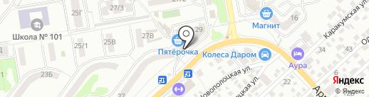 Славянка на карте Ростова-на-Дону